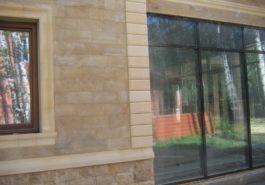 Облицовка фасадов природным камнем