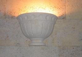 Светильник из ПС на стене из РДн