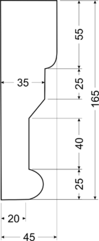 Карниз A14 - чертеж