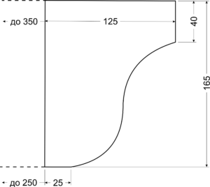 Карниз A17 - чертеж