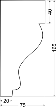Карниз A19 - чертеж
