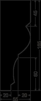 Карниз A2 - чертеж