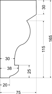 Карниз A6 - чертеж
