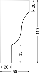 Карниз B13 - чертеж