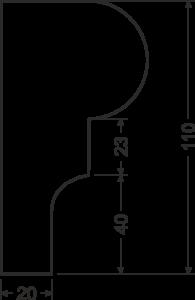 Карниз B14 - чертеж