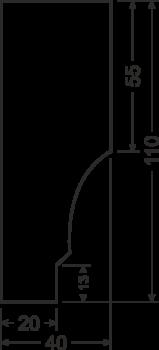Карниз B1 - чертеж