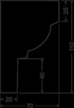 Карниз B21 - чертеж
