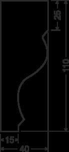 Карниз B2 - чертеж