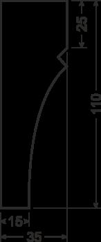 Карниз B3 - чертеж