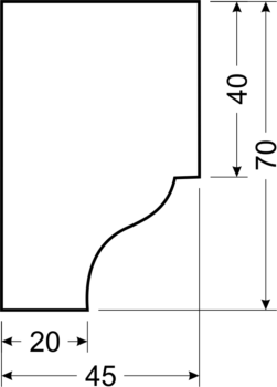Филенка С19 - чертеж