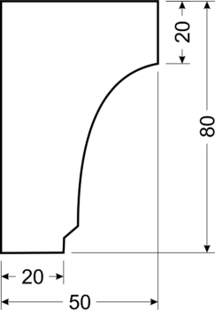 Филенка С4 - чертеж